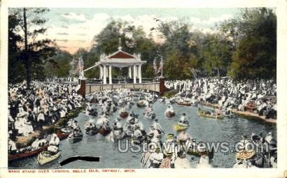 Band Stand Over Lagoon, Belle Isle - Detroit, Michigan MI Postcard