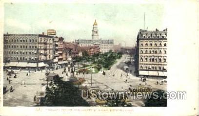 Cadillac Square and County Building - Detroit, Michigan MI Postcard