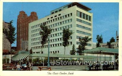The Civic Center Park - Detroit, Michigan MI Postcard