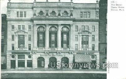 The Detroit Opera House - Michigan MI Postcard