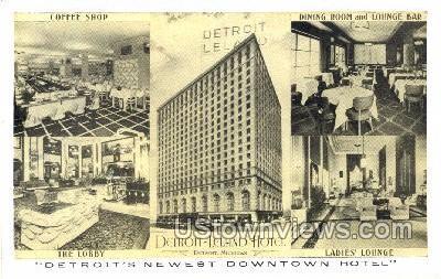 Detroit-Leland Hotel - Michigan MI Postcard