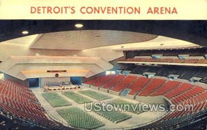 Detroit Convention Arena - Michigan MI Postcard