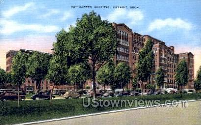 Harper Hospital - Detroit, Michigan MI Postcard