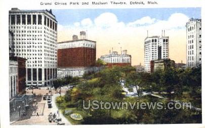 Madison Theatre, Grand Circus Park - Detroit, Michigan MI Postcard