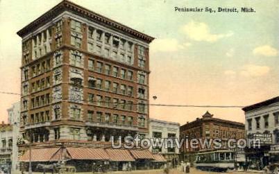 Peninsular Sq. - Detroit, Michigan MI Postcard