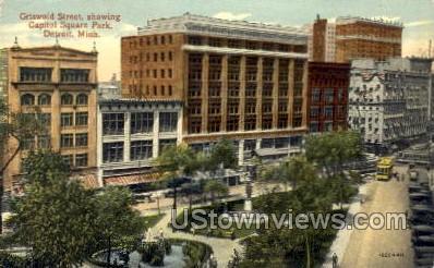 Capitol Square Park, Griswold Street - Detroit, Michigan MI Postcard