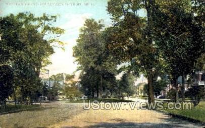 Western Grand Boulevard - Detroit, Michigan MI Postcard