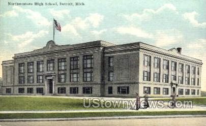 Northwestern High School - Detroit, Michigan MI Postcard
