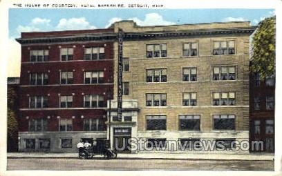 The House of Courtesy, Hotel Berkshire - Detroit, Michigan MI Postcard