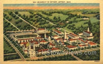 University of Detroit - Michigan MI Postcard