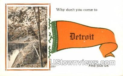 Detroit, Michigan, USA Postcard
