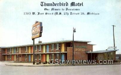 Thunderbird Motel - Detroit, Michigan MI Postcard