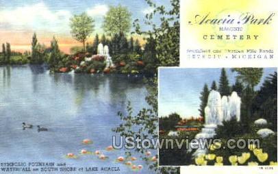 Acacia Park - Detroit, Michigan MI Postcard