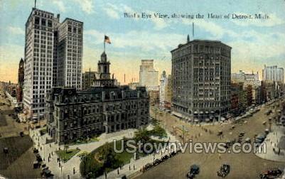 The Heart of Detroit - Michigan MI Postcard