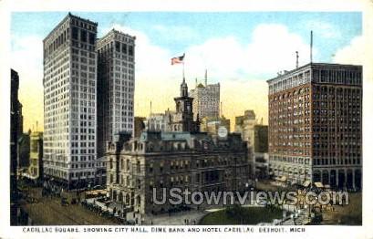 Cadillac Square - Detroit, Michigan MI Postcard
