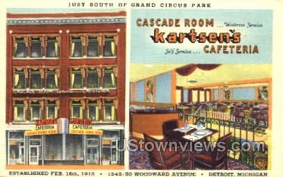 Kartsen's - Detroit, Michigan MI Postcard