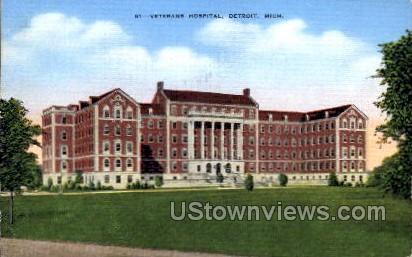 Veterans Hospital - Detroit, Michigan MI Postcard