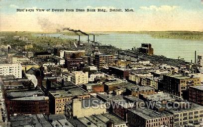 Dime Bank Building - Detroit, Michigan MI Postcard