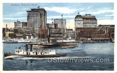 Harbor - Detroit, Michigan MI Postcard