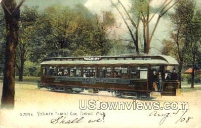 Volande Tourist Car - Detroit, Michigan MI Postcard