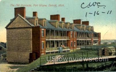 The Old Barracks, Fort Wayne - Detroit, Michigan MI Postcard