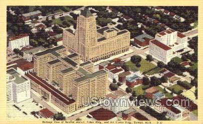 General Motors, Fisher Building  - Detroit, Michigan MI Postcard