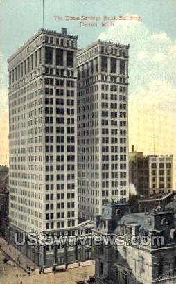 The Dime Savings Bank Building - Detroit, Michigan MI Postcard