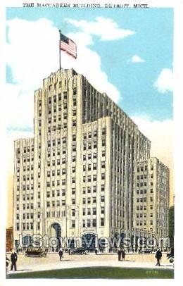 The Maccabees Building - Detroit, Michigan MI Postcard