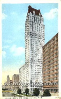 Book Building and Tower - Detroit, Michigan MI Postcard