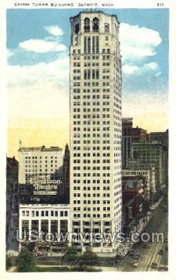 Eaton Tower Building - Detroit, Michigan MI Postcard