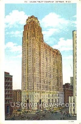 Union Trust Company - Detroit, Michigan MI Postcard