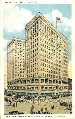 Michigan Lafayette Building - Detroit Postcard