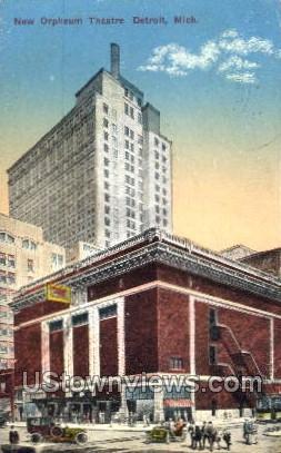 New Orpheum Theatre - Detroit, Michigan MI Postcard
