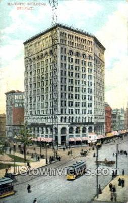 Majestic Building - Detroit, Michigan MI Postcard