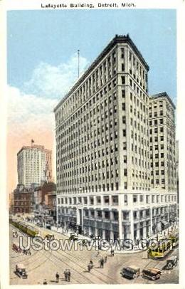Lafayette Building - Detroit, Michigan MI Postcard