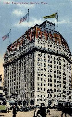 Hotel Ponchartrain - Detroit, Michigan MI Postcard