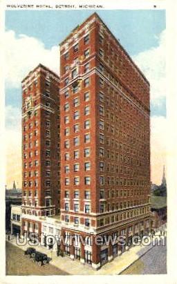 Wolverine Hotel - Detroit, Michigan MI Postcard