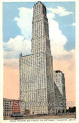 Book Tower Building - Detroit, Michigan MI Postcard