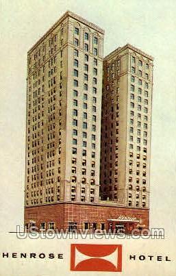 Henrose Hotel - Detroit, Michigan MI Postcard