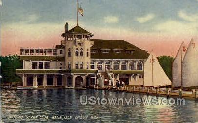 Detroit Yacht Club, Belle Isle - Michigan MI Postcard