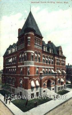Municipal Courts Bldg - Detroit, Michigan MI Postcard