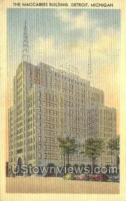 Maccabees Bldg - Detroit, Michigan MI Postcard