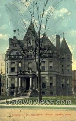 Knights of the Maccabees Temple - Detroit, Michigan MI Postcard