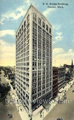 S.S. Kresge Bldg - Detroit, Michigan MI Postcard