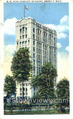 R.H. Fyfe Co Bldg - Detroit, Michigan MI Postcard