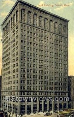 Ford Bldg - Detroit, Michigan MI Postcard