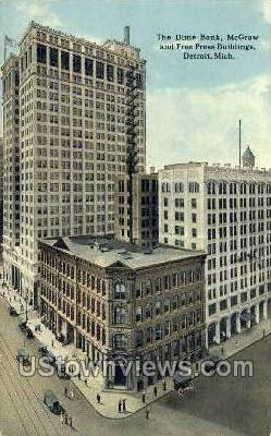 The Dime Bank - Detroit, Michigan MI Postcard
