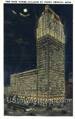 Book Tower Bldg - Detroit, Michigan MI Postcard
