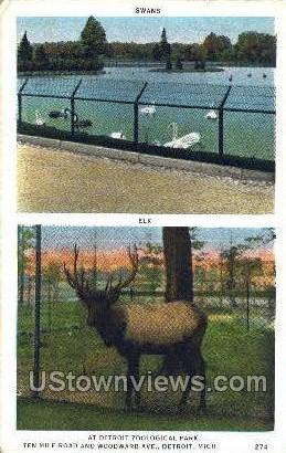 Zoological Park - Detroit, Michigan MI Postcard