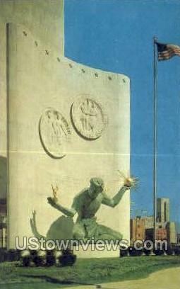 The Spirit of Detroit - Michigan MI Postcard